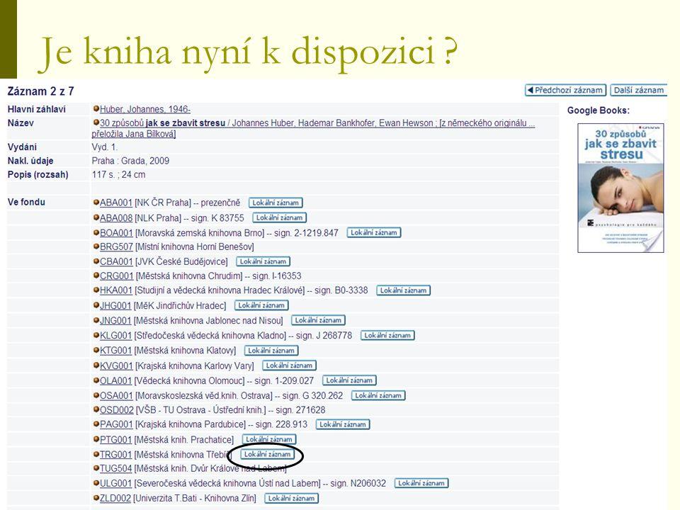 Dále SK ČR nabízí uživatelům :  vidět obálky (obálkový server)  propojit se na Google Book Search (plné texty/ výběrově plné texty…)  otevřít obsahy (z NK, VK OL, MZK)  objednat zhotovení digitální kopie (EOD – službu poskytuje VK Olomouc a MZK Brno)  najít informace o existenci digitální kopie dokumentu - v ideálním případě přístup k této kopii