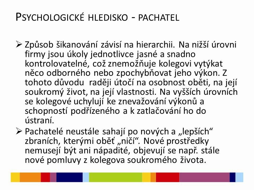 P SYCHOLOGICKÉ HLEDISKO - OBĚŤ  Postižený se stává s přibývajícími útoky nejistější, začne být méně soustředěný (neklidný) přemýšlí nad příčinami těchto útoků.