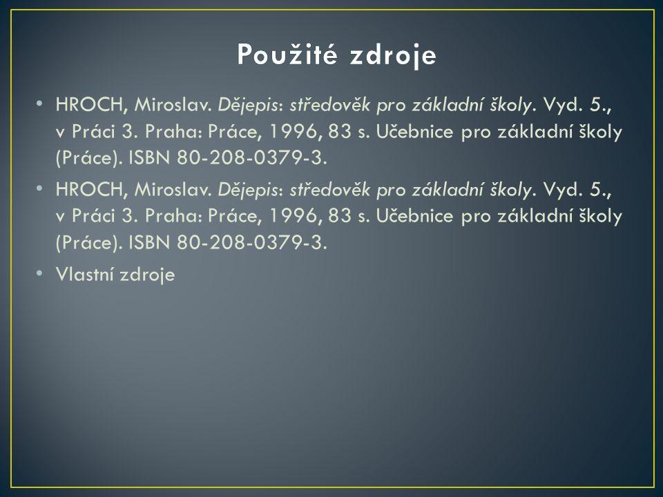 HROCH, Miroslav.Dějepis: středověk pro základní školy.