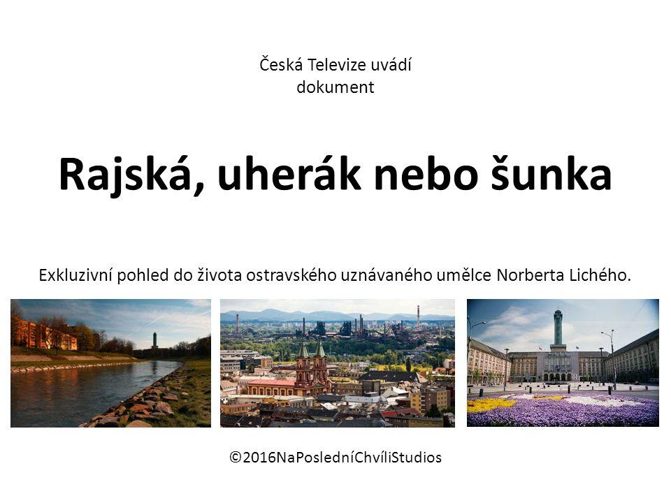 Česká Televize uvádí dokument Rajská, uherák nebo šunka Exkluzivní pohled do života ostravského uznávaného umělce Norberta Lichého.