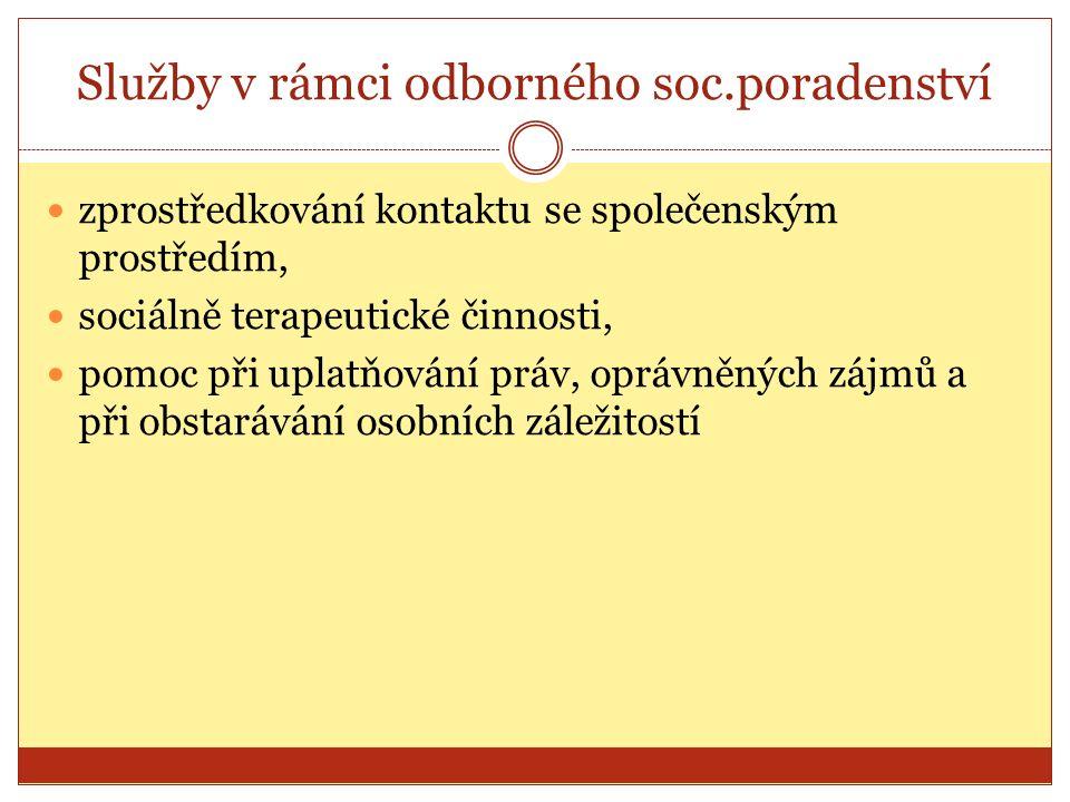 Občanské poradny Síť nestátních org.