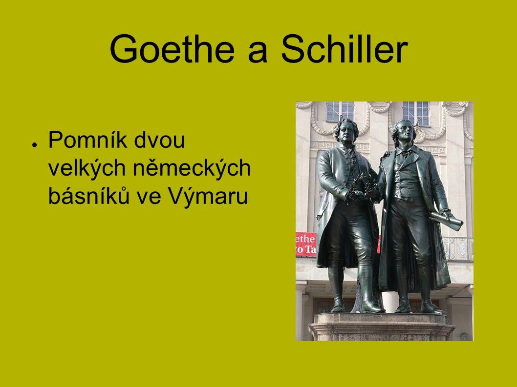 Goethe a Schiller ● Pomník dvou velkých německých básníků ve Výmaru