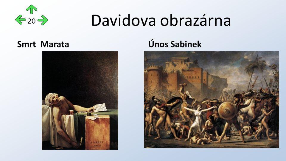 Davidova obrazárna Smrt MarataÚnos Sabinek 20