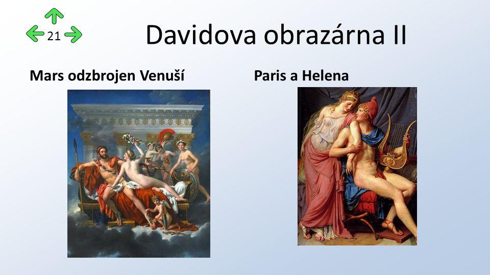 Davidova obrazárna II Mars odzbrojen VenušíParis a Helena 21
