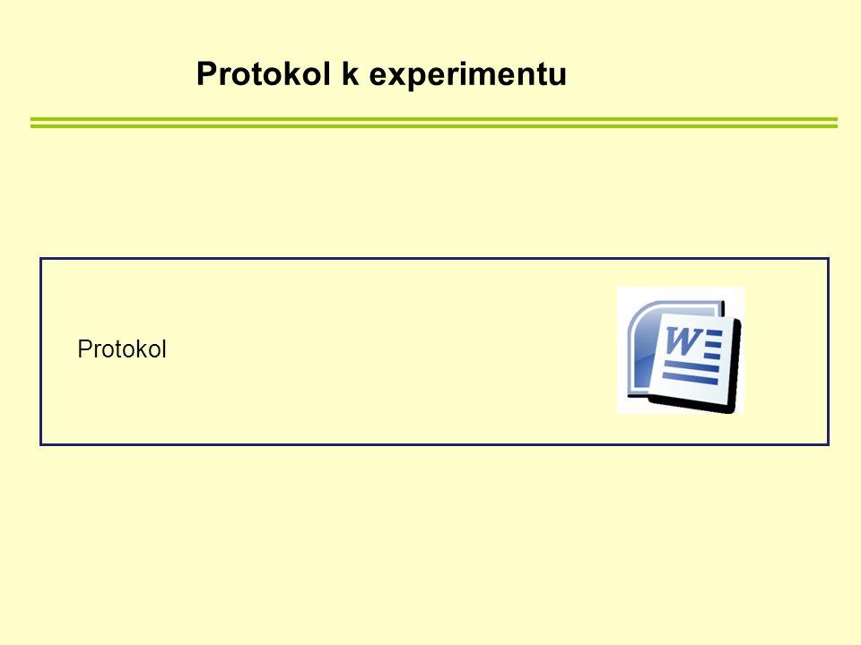 Protokol k experimentu Protokol
