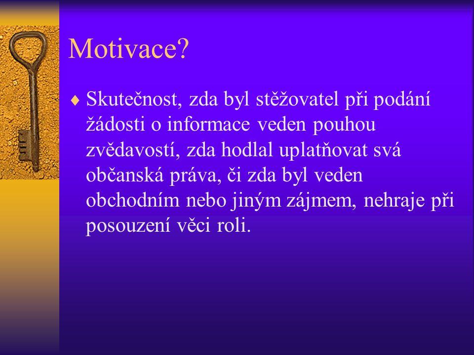 Motivace.
