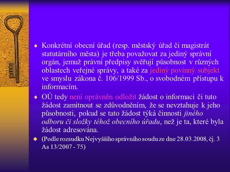  Konkrétní obecní úřad (resp.