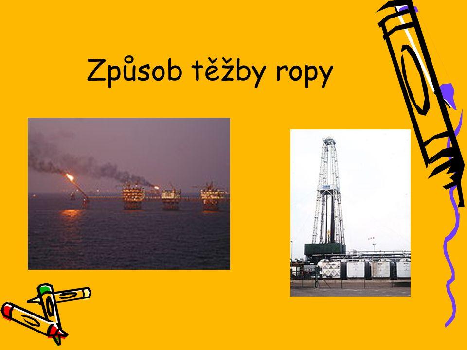 Způsob těžby ropy