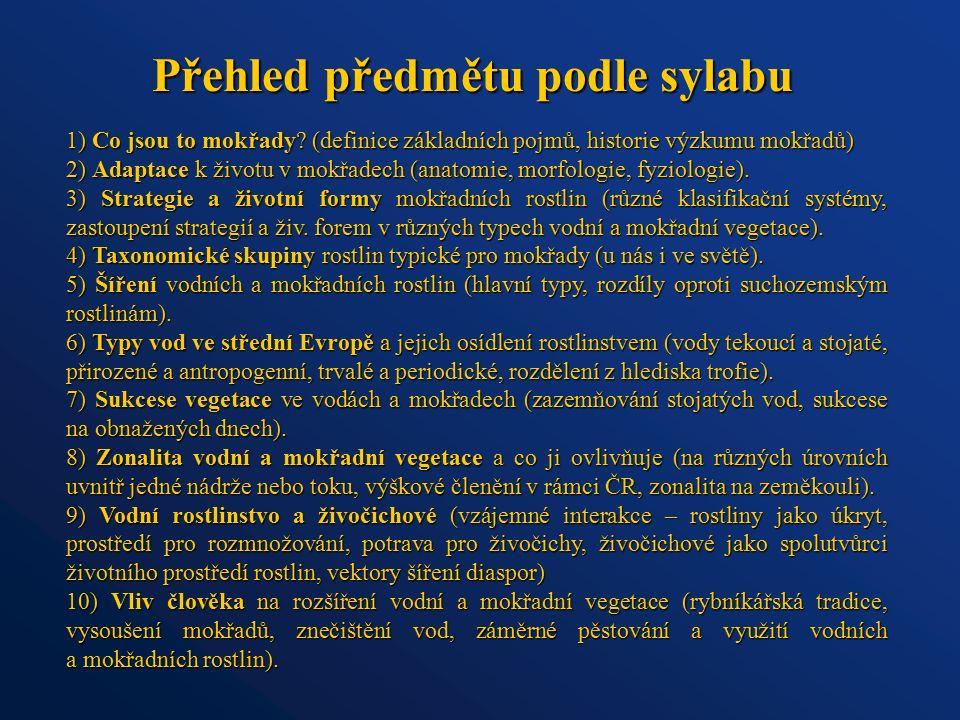 Výzkum mokřadní vegetace Až 30.léta 20. stol.