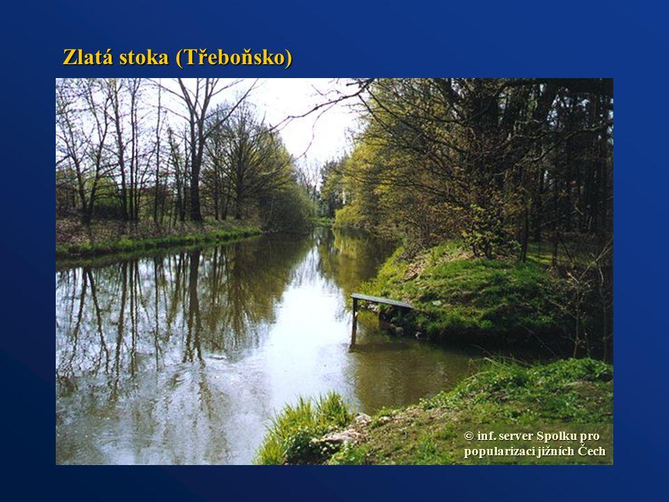 Zlatá stoka (Třeboňsko) © inf. server Spolku pro popularizaci jižních Čech