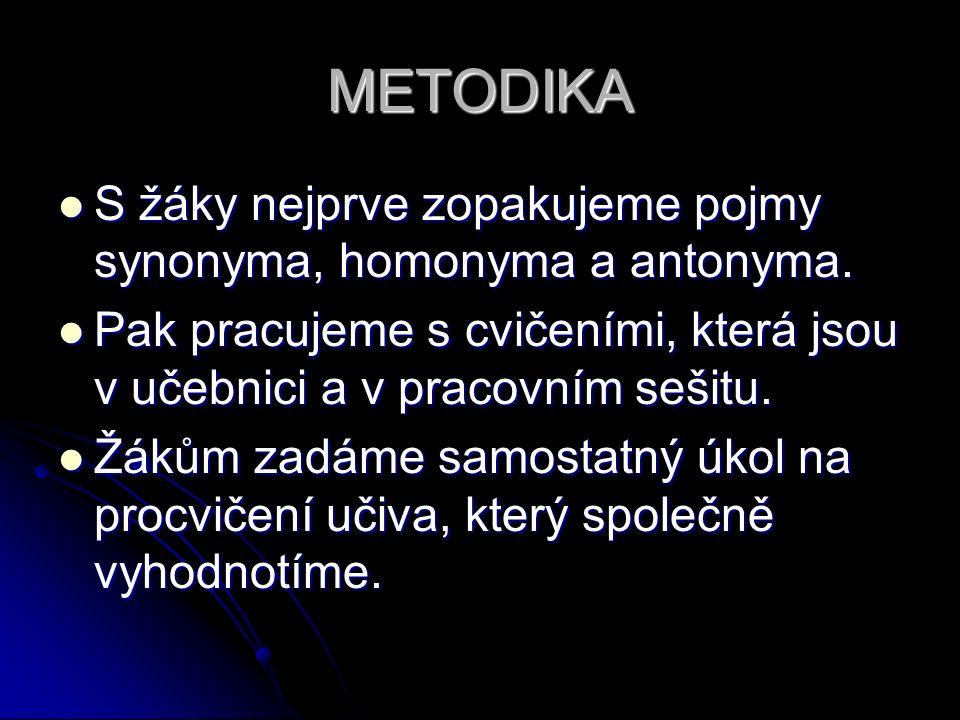 POUŽITÉ ZDROJE Hošnová, E. a kol. Český jazyk pro ZŠ 7.