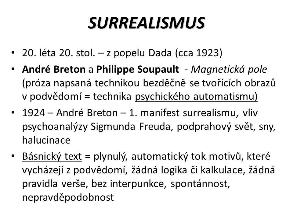 SURREALISMUS 20. léta 20. stol.