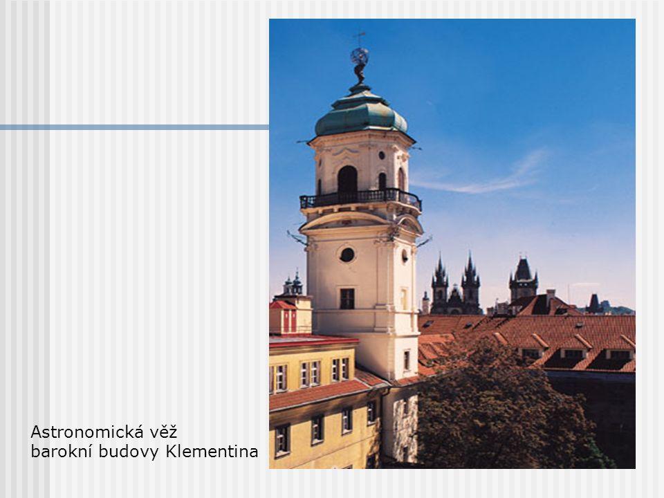 Astronomická věž barokní budovy Klementina