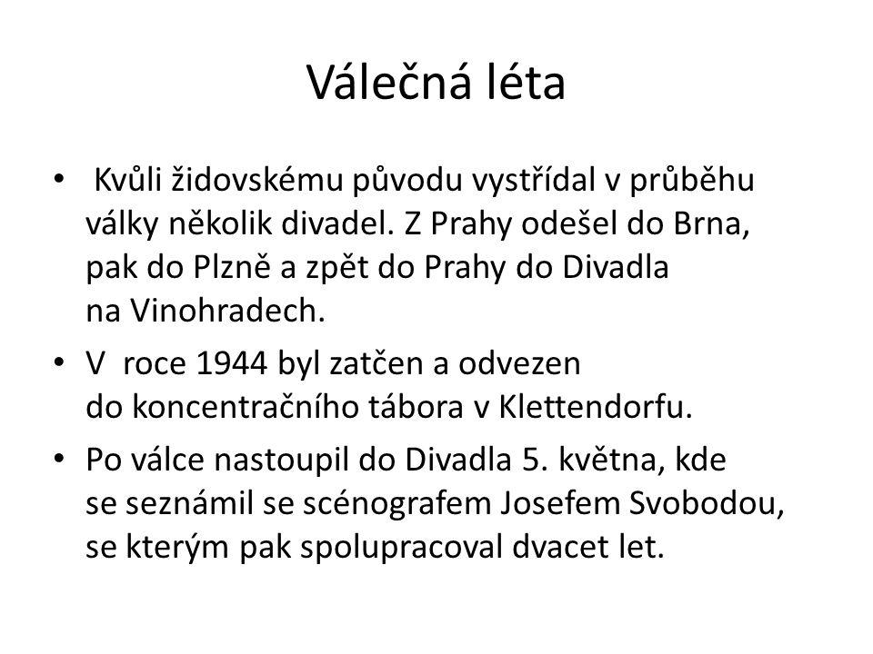 Opakování Znáte jiné umělce židovského původu, kteří působili v českém divadle.