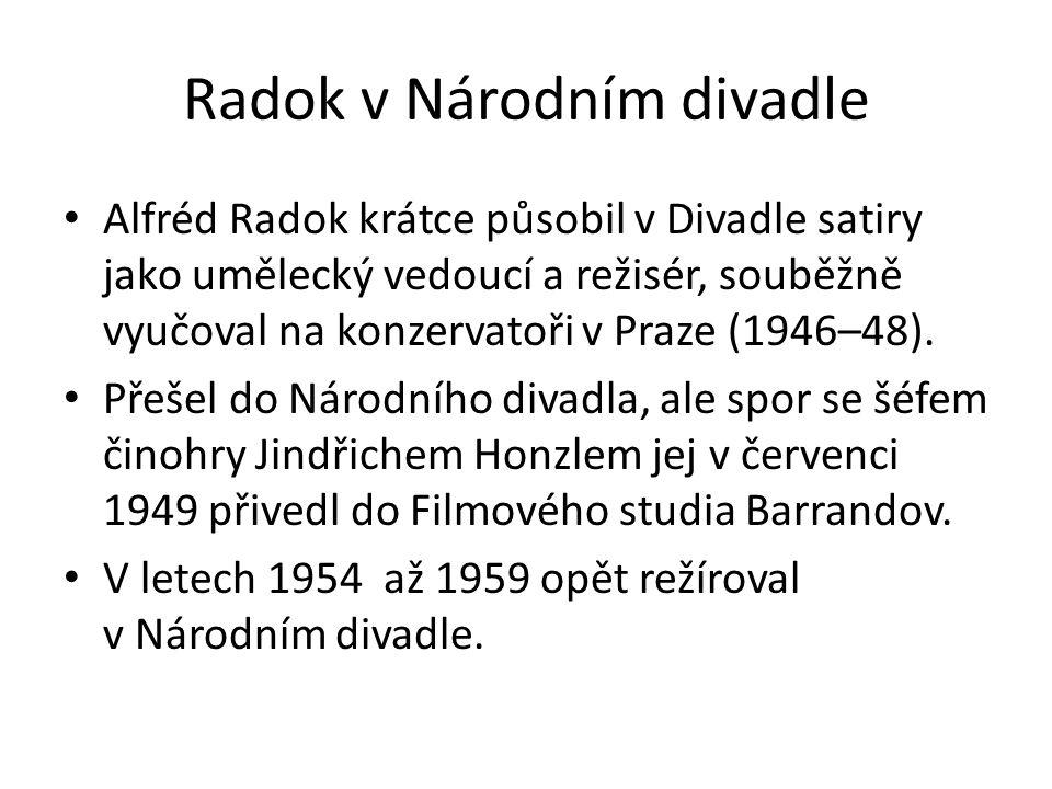Laterna magika Radok byl jmenován uměleckým vedoucím kulturních pořadů v čs.