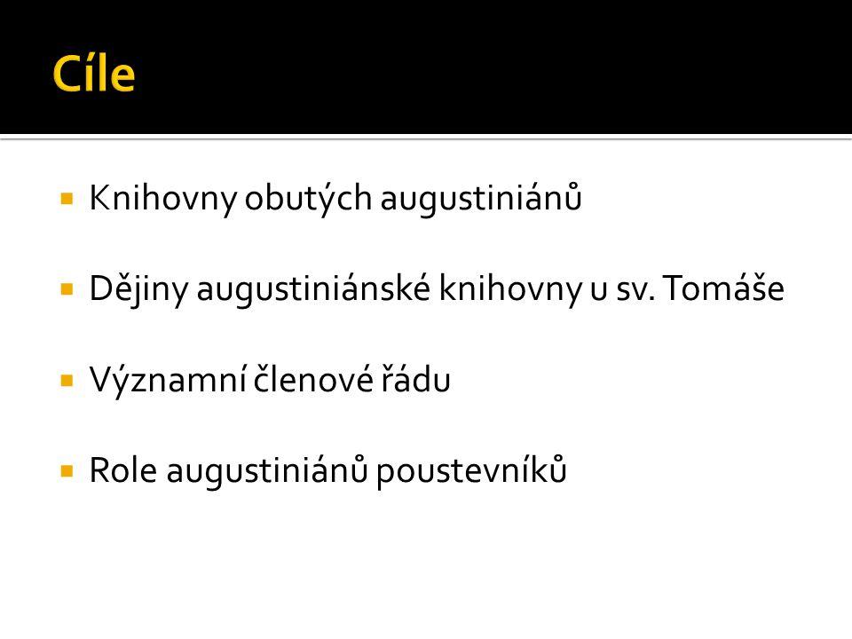  Knihovny obutých augustiniánů  Dějiny augustiniánské knihovny u sv.