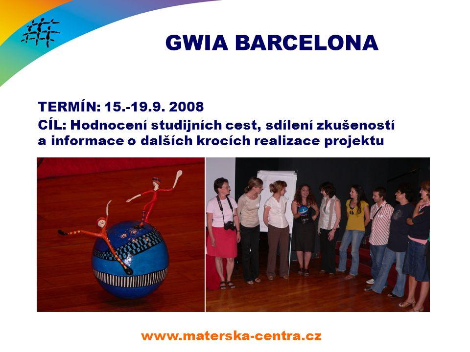 GWIA BARCELONA www.materska-centra.cz TERMÍN: 15.-19.9.