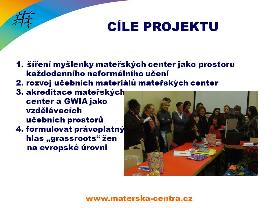 CÍLE PROJEKTU www.materska-centra.cz 1.