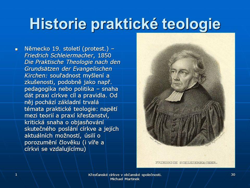 Historie praktické teologie Německo 19.