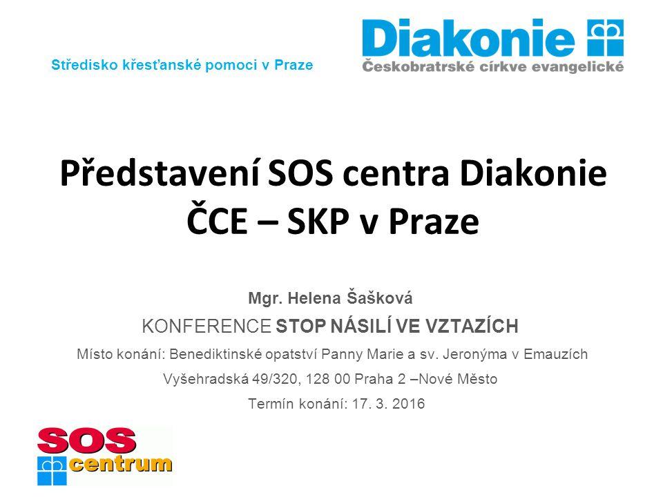 Středisko křesťanské pomoci v Praze www.soscentrum.cz Představení SOS centra Diakonie ČCE – SKP v Praze Mgr.