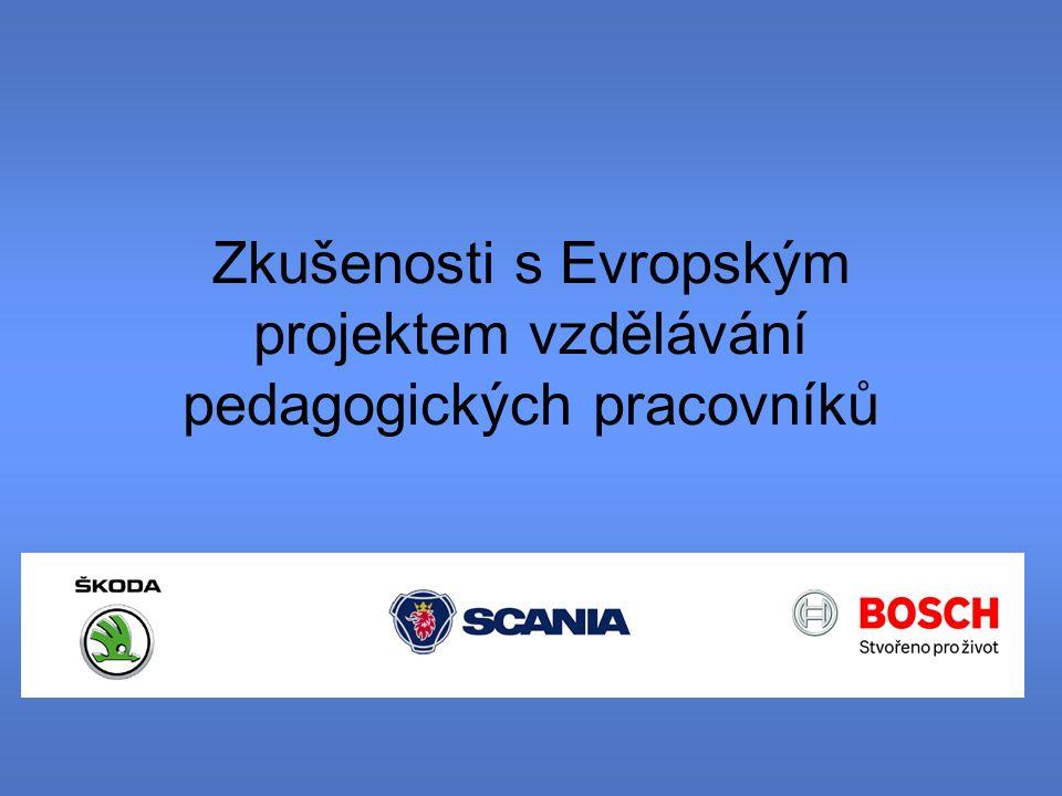Zkušenosti s Evropským projektem vzdělávání pedagogických pracovníků