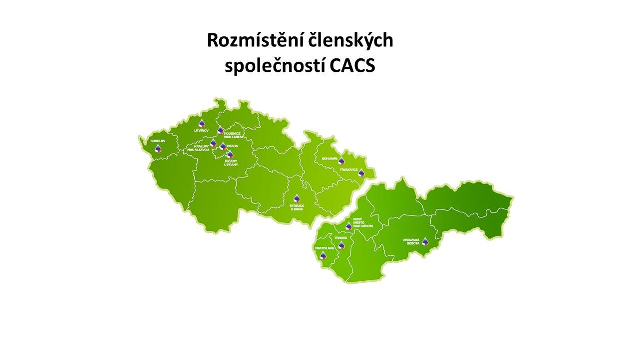 Rozmístění členských společností CACS