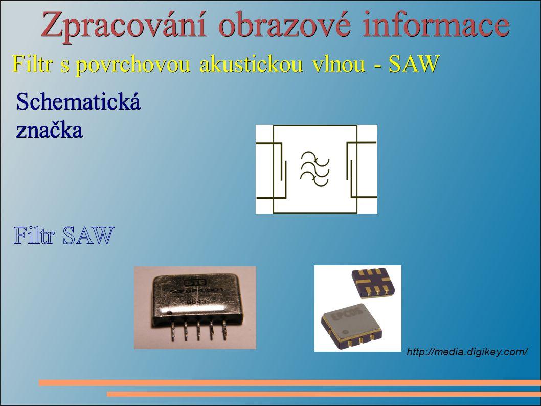 Zpracování obrazové informace Filtr s povrchovou akustickou vlnou - SAW Schematická značka http://media.digikey.com/