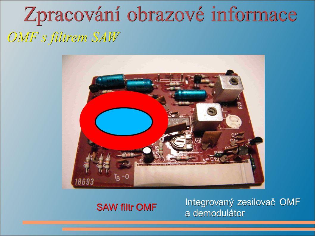 Zpracování obrazové informace OMF s filtrem SAW Integrovaný zesilovač OMF a demodulátor SAW filtr OMF