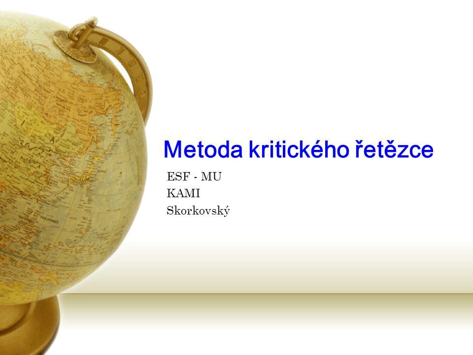 Metoda kritického řetězce ESF - MU KAMI Skorkovský