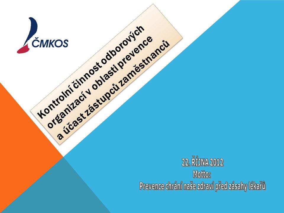 Kontrolní činnost odborových organizací v oblasti prevence a účast zástupců zaměstnanců