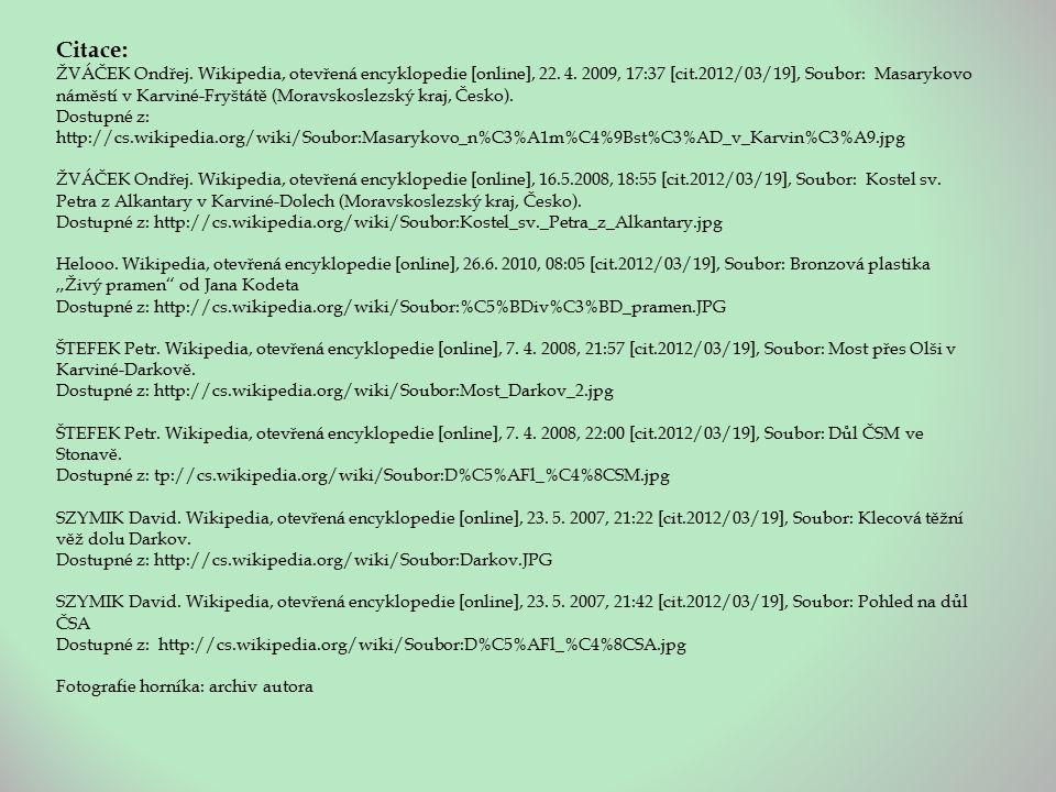Citace: ŽVÁČEK Ondřej. Wikipedia, otevřená encyklopedie [online], 22.