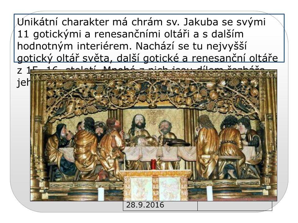 28.9.2016 Unikátní charakter má chrám sv.