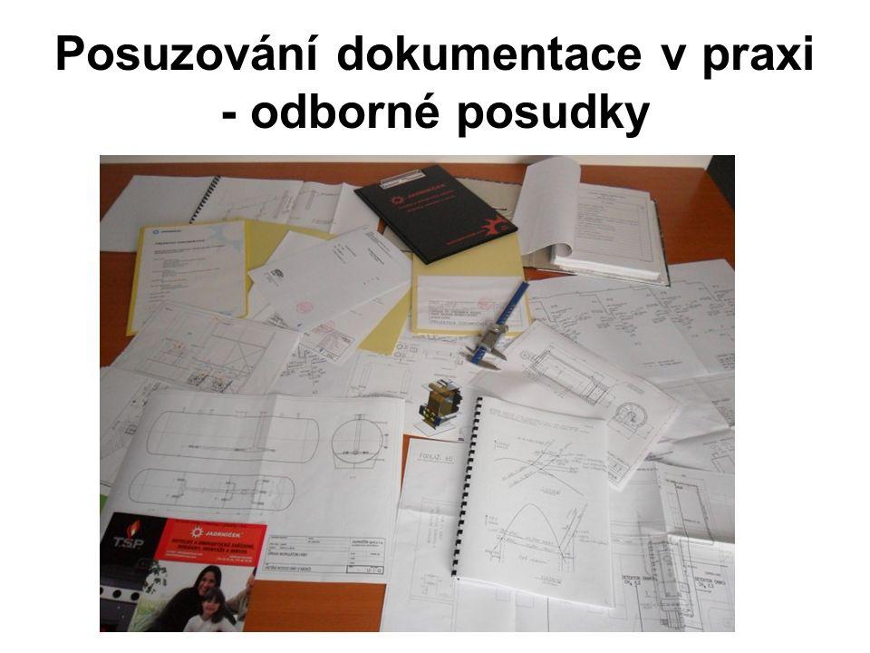 Posuzování dokumentace v praxi - odborné posudky