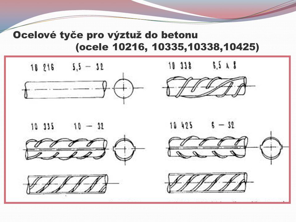 Ocelové tyče pro výztuž do betonu (ocele 10216, 10335,10338,10425)