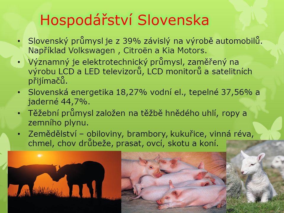 Slovenský průmysl je z 39% závislý na výrobě automobilů.