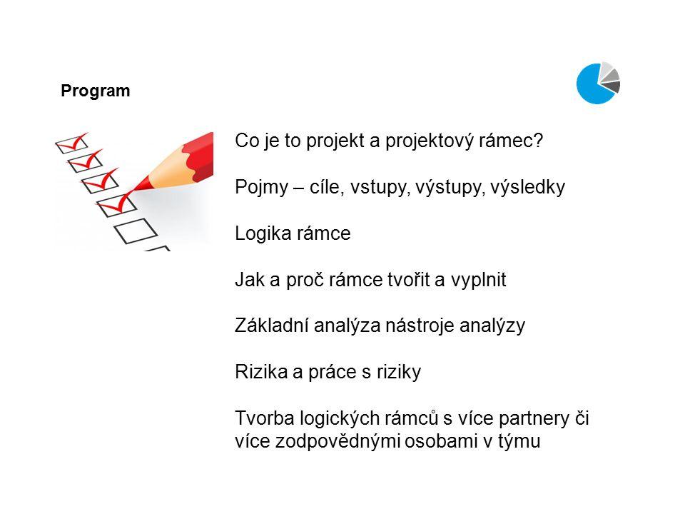 Co je to projekt a projektový rámec.