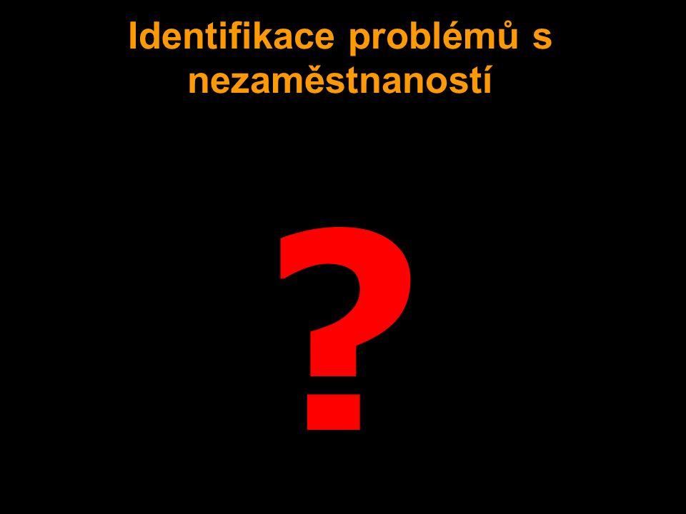 ? Identifikace problémů s nezaměstnaností