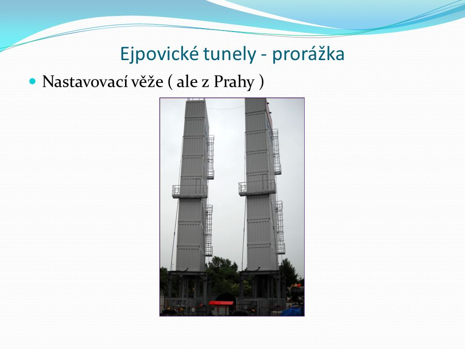 Ejpovické tunely - prorážka Nastavovací věže ( ale z Prahy )