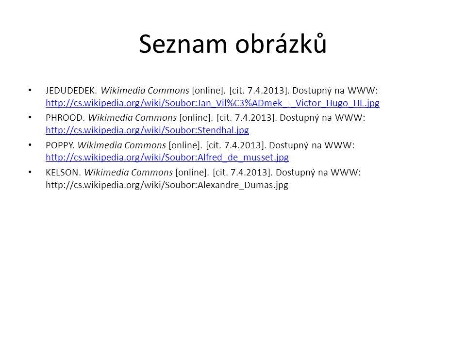Seznam obrázků JEDUDEDEK. Wikimedia Commons [online].