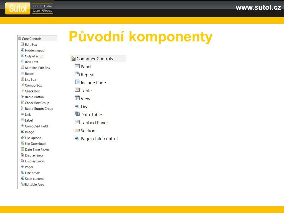 www.sutol.cz Původní komponenty