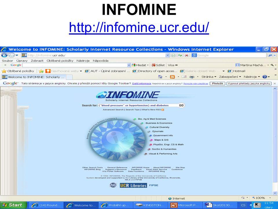 INFOMINE http://infomine.ucr.edu/ http://infomine.ucr.edu/