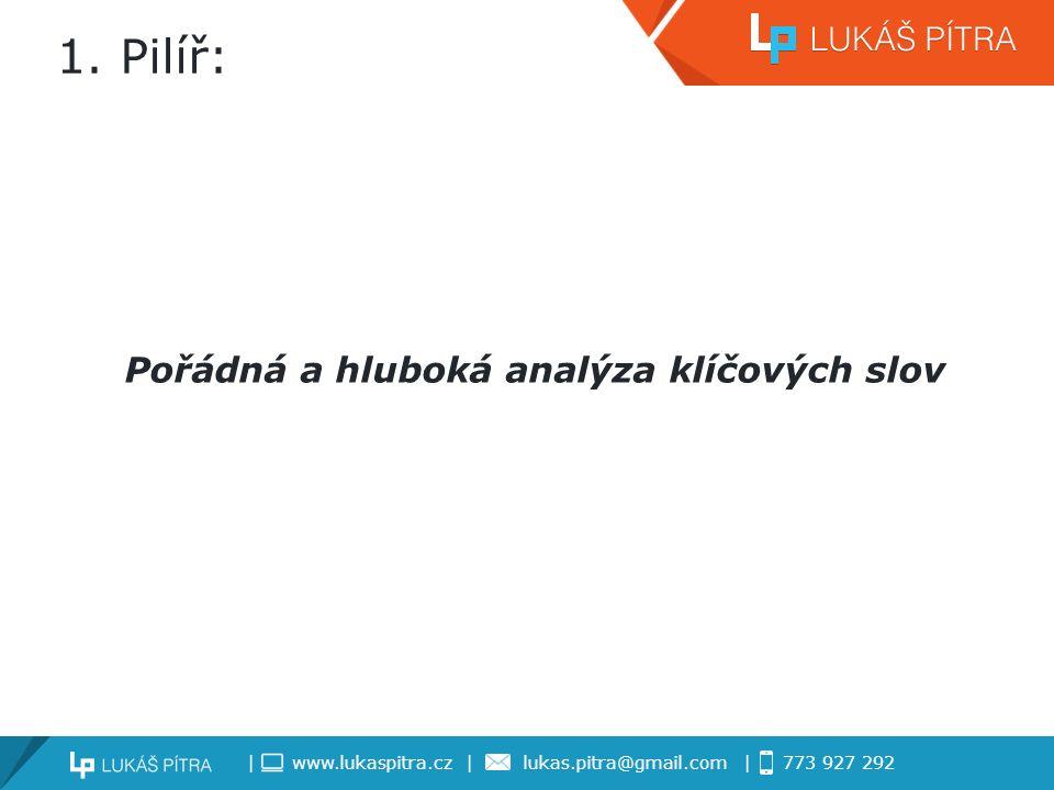 | www.lukaspitra.cz | lukas.pitra@gmail.com | 773 927 292 1.