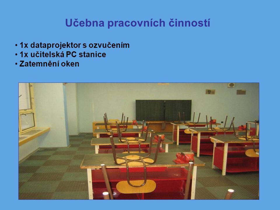 1x dataprojektor s ozvučením 1x učitelská PC stanice Zatemnění oken Učebna pracovních činností