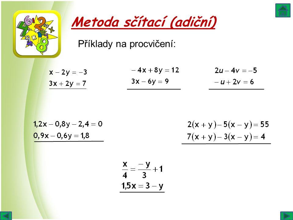 Metoda sčítací (adiční) Příklady na procvičení: