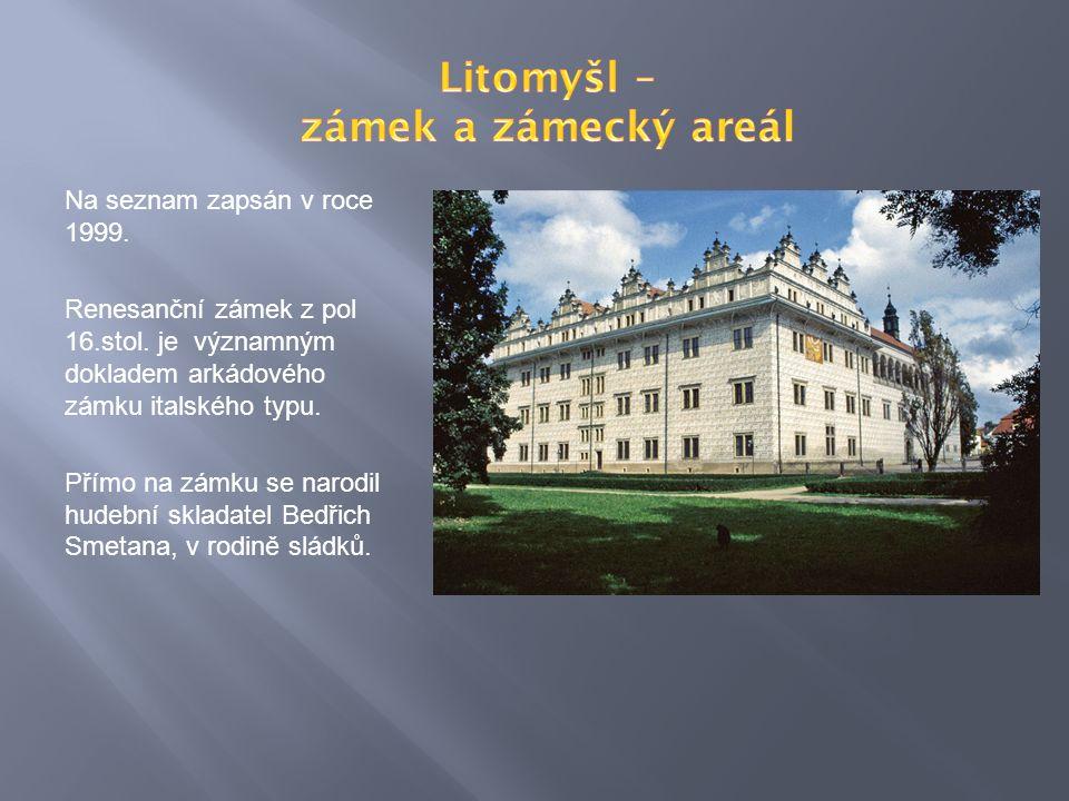 Na seznam zapsán v roce 1999. Renesanční zámek z pol 16.stol.