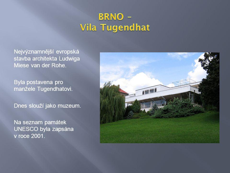 Nejvýznamnější evropská stavba architekta Ludwiga Miese van der Rohe.