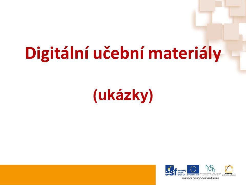 Digitální učební materiály (ukázky)