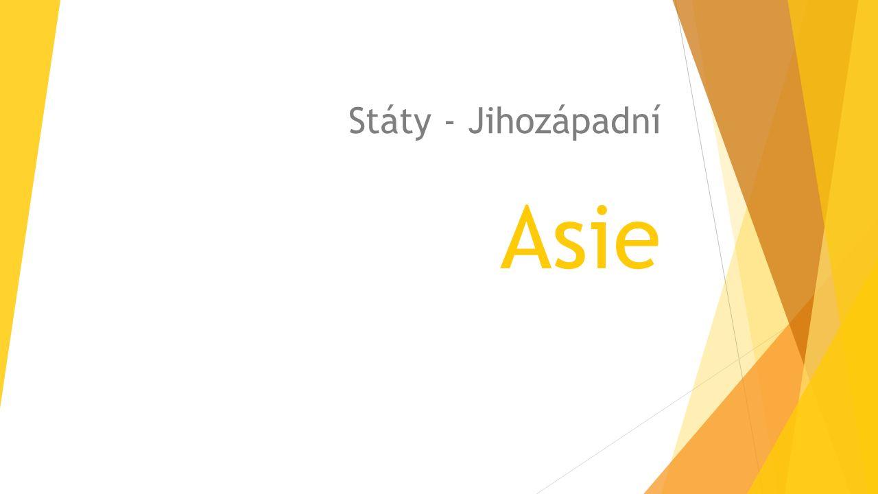 Asie Státy - Jihozápadní