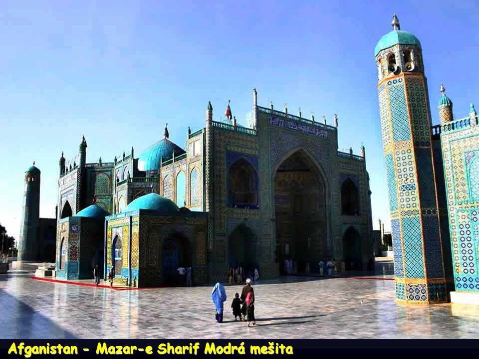 Afganistan - Mazar-e Sharif Modrá mešita