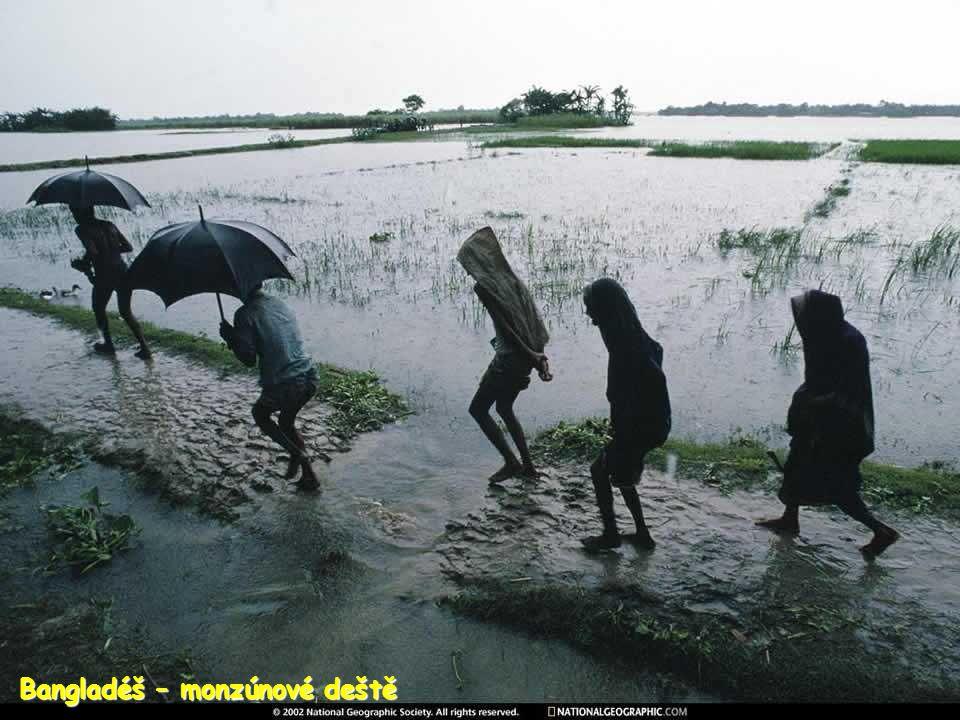 Bangladéš – monzúnové deště